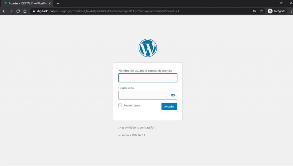 Administrar WordPress