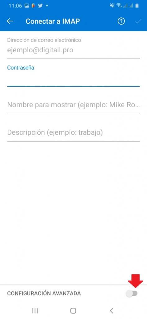 Configuración Avanzada IMAP