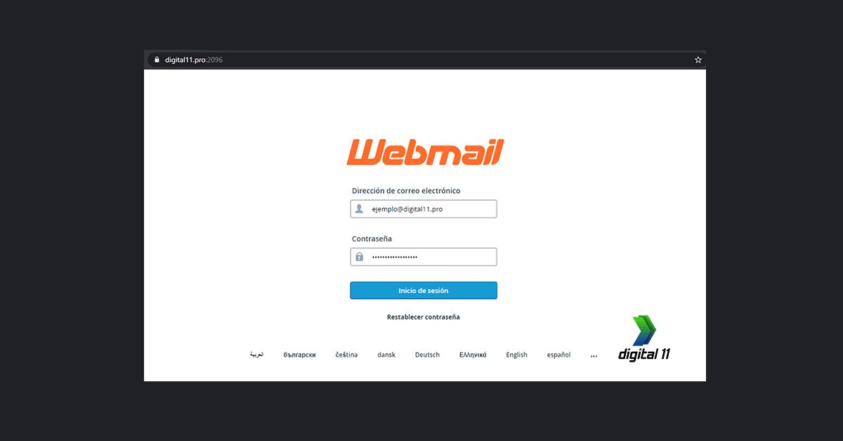 Configurar y Acceder a los correos electrónicos de WEBMAIL